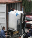Unloading of raw material